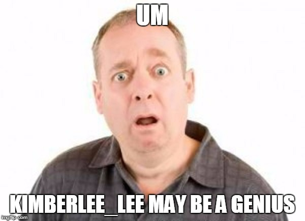 UM KIMBERLEE_LEE MAY BE A GENIUS | made w/ Imgflip meme maker