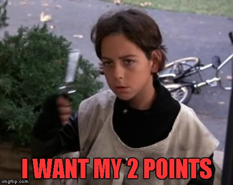 I WANT MY 2 POINTS | made w/ Imgflip meme maker