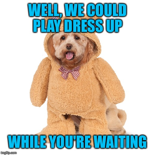 WELL, WE COULD PLAY DRESS UP WHILE YOU'RE WAITING | made w/ Imgflip meme maker