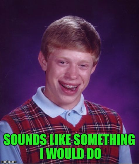 Bad Luck Brian Meme | SOUNDS LIKE SOMETHING I WOULD DO | image tagged in memes,bad luck brian | made w/ Imgflip meme maker