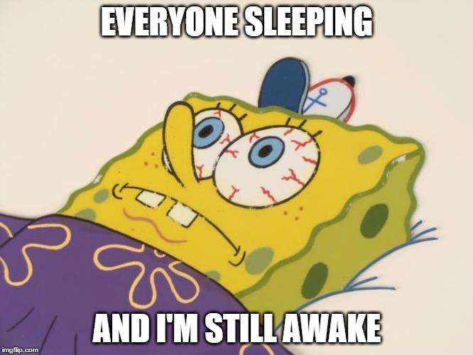 1f28ka spongbob can't sleep imgflip