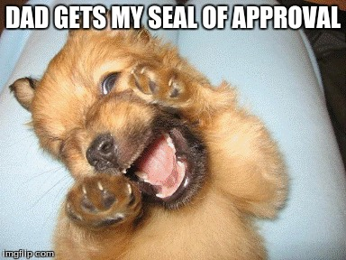 DAD GETS MY SEAL OF APPROVAL | made w/ Imgflip meme maker