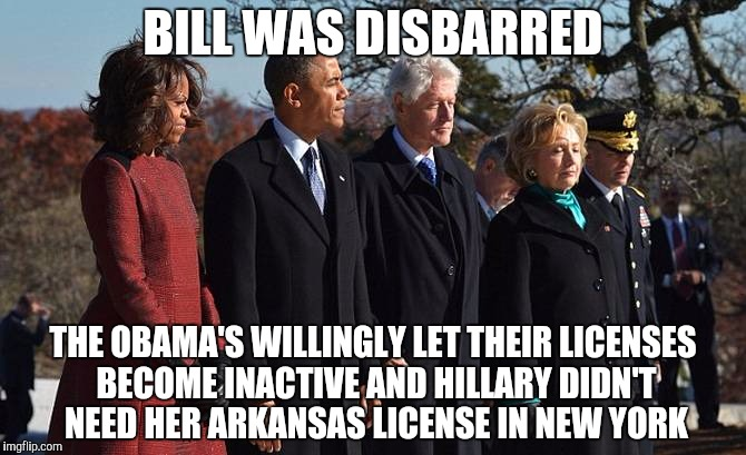 Were bill and hillary clinton disbarred