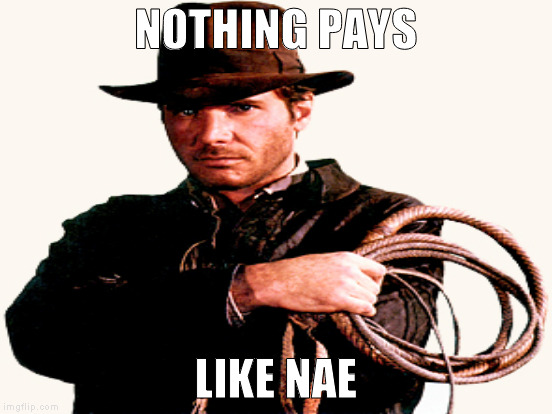NOTHING PAYS LIKE NAE | made w/ Imgflip meme maker