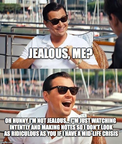 1f52h3 leonardo dicaprio wolf of wall street meme imgflip,Jealous Meme