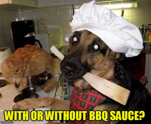 WITH OR WITHOUT BBQ SAUCE? | made w/ Imgflip meme maker