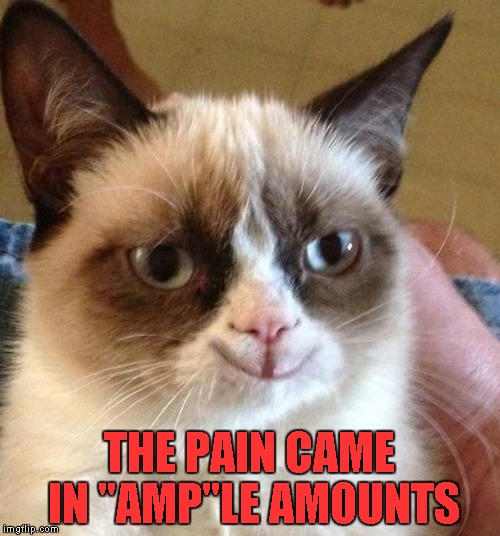 "THE PAIN CAME IN ""AMP""LE AMOUNTS 