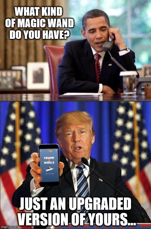 Trumps Magic Wand - Imgflip
