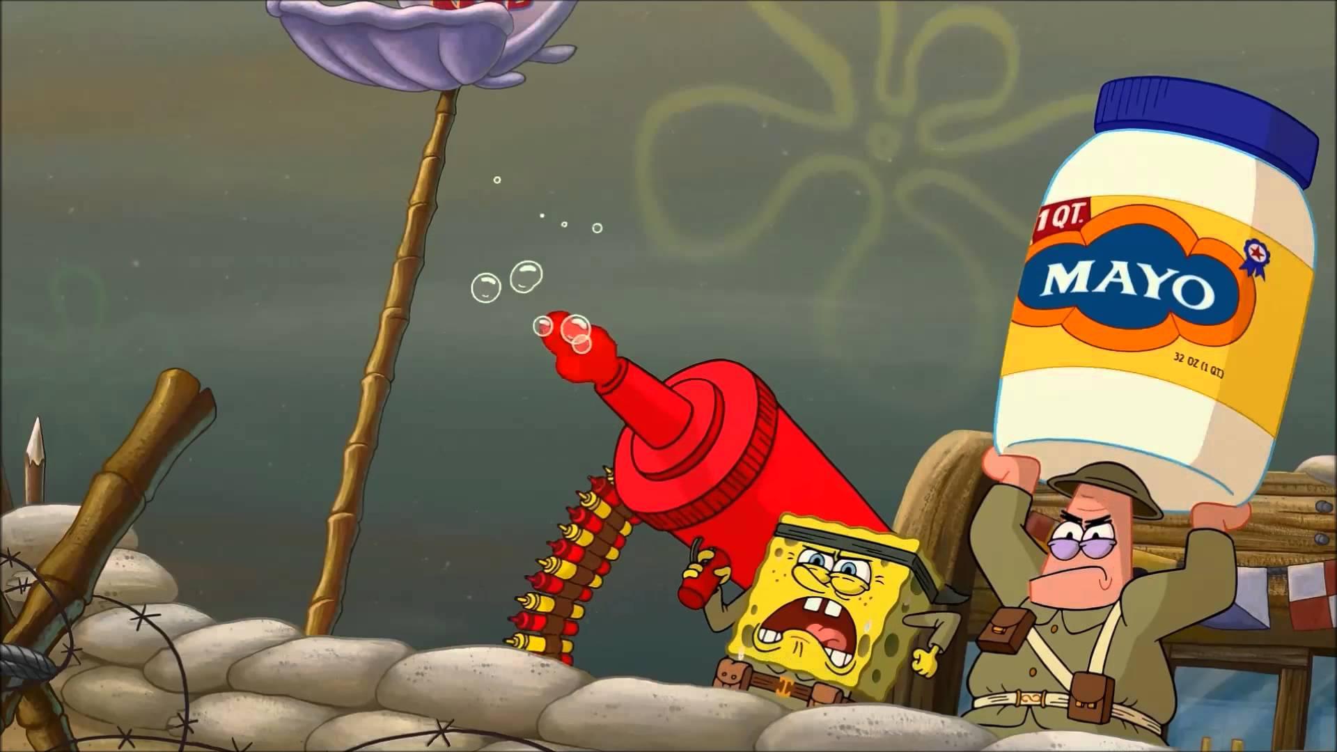 High quality spongebob war blank meme template