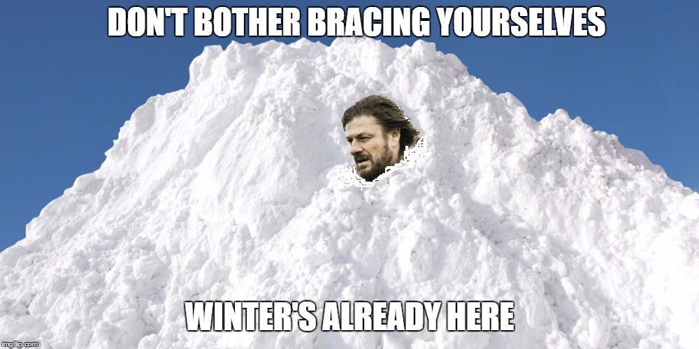 And it hits hard. |  DON'T BOTHER BRACING YOURSELVES; WINTER'S ALREADY HERE | image tagged in brace yourselves x is coming,memes,winter | made w/ Imgflip meme maker