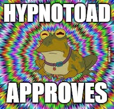 HYPNOTOAD APPROVES | made w/ Imgflip meme maker