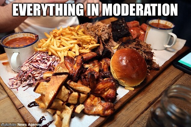EVERYTHING IN MODERATION | made w/ Imgflip meme maker