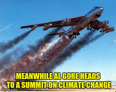 MEANWHILE AL GORE HEADS TO A SUMMIT ON CLIMATE CHANGE | made w/ Imgflip meme maker
