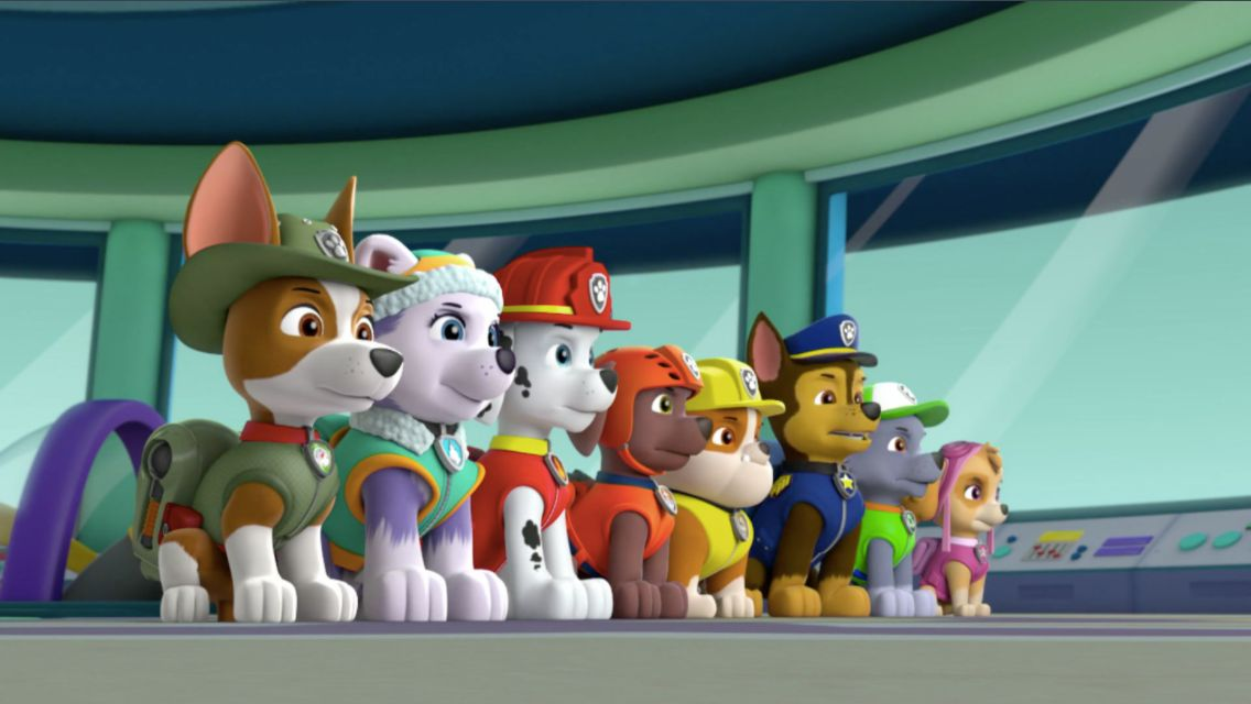 All 8 Paw Patrol Pups At The Lookout Blank Template Imgflip