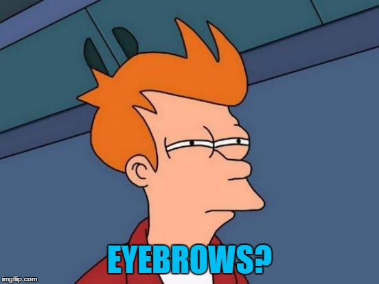 Futurama Fry Meme | EYEBROWS? | image tagged in memes,futurama fry | made w/ Imgflip meme maker