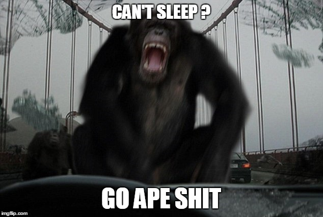 Funny No Sleep Meme : Go ape shit. imgflip