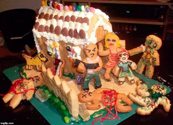 Countdown to Christmas  Zombie Gingerbread House  Bad