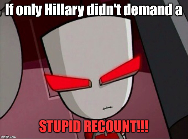 Mad Gir | If only Hillary didn't demand a STUPID RECOUNT!!! | image tagged in mad gir | made w/ Imgflip meme maker