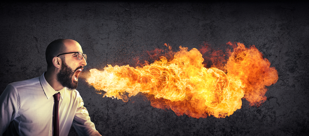 High Quality Angry preacher breathing fire Blank Meme Template