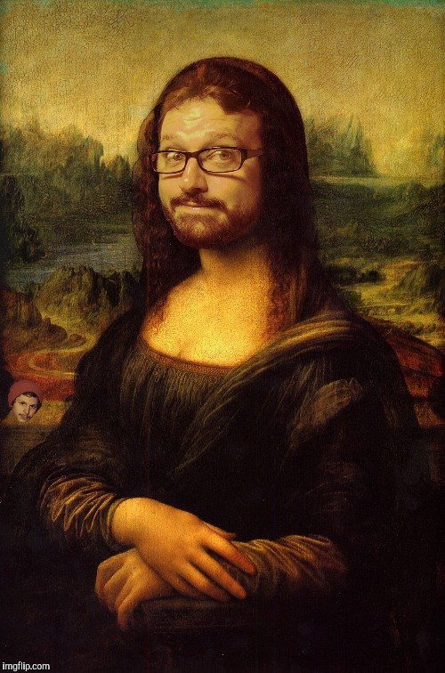 Mona Lisa | . | image tagged in mona lisa | made w/ Imgflip meme maker