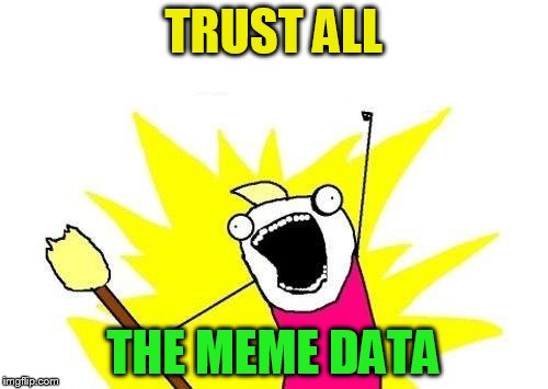 X All The Y Meme | TRUST ALL THE MEME DATA | image tagged in memes,x all the y | made w/ Imgflip meme maker