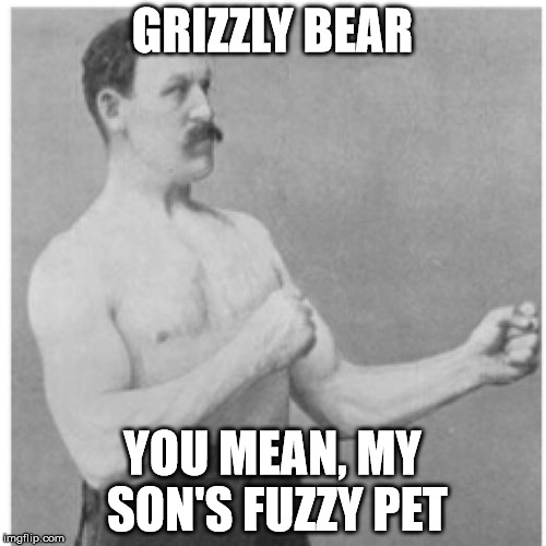 GRIZZLY BEAR YOU MEAN, MY SON'S FUZZY PET | made w/ Imgflip meme maker