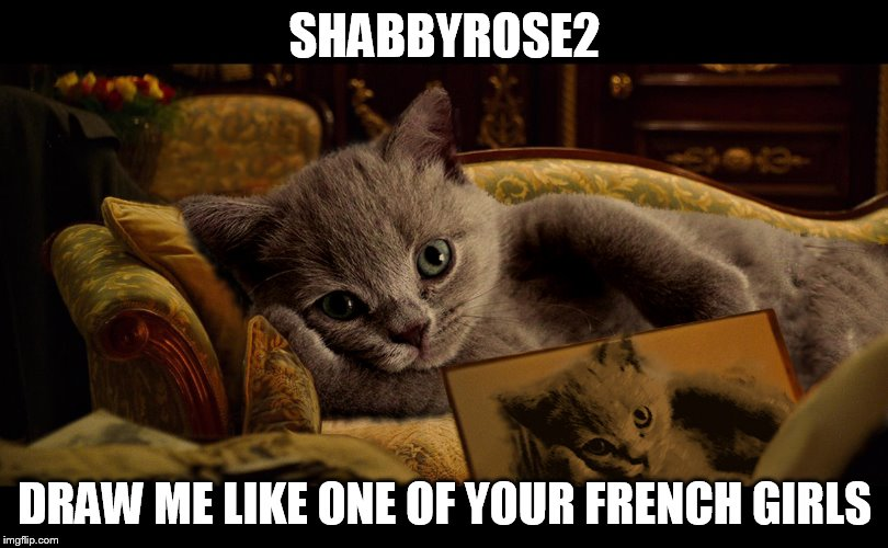 SHABBYROSE2 DRAW ME LIKE ONE OF YOUR FRENCH GIRLS | made w/ Imgflip meme maker