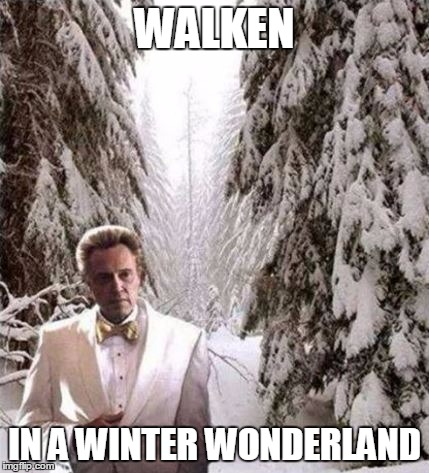 In the meadow...we can build...a SNOWMAN | WALKEN IN A WINTER WONDERLAND | image tagged in walken in the snow,winter wonderland | made w/ Imgflip meme maker