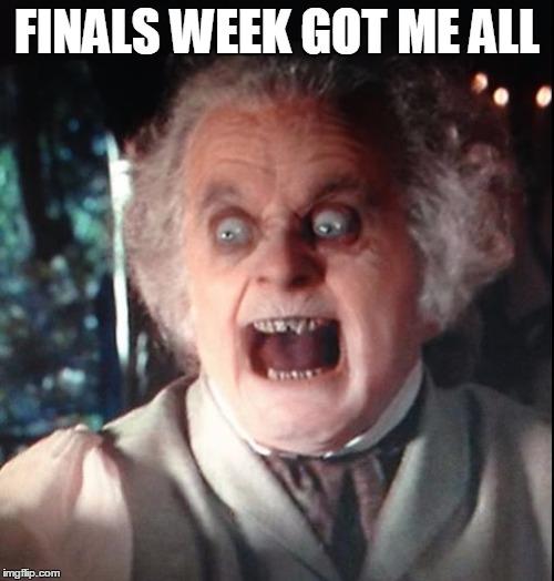 Finals Week Meme Matrix College life - ...