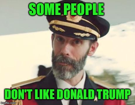 Captain Obvious | SOME PEOPLE DON'T LIKE DONALD TRUMP | image tagged in captain obvious | made w/ Imgflip meme maker