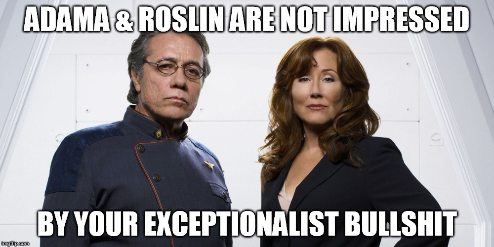 1fhdit adama and roslin are not impressed imgflip