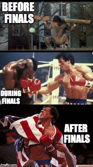 Finals week as told by Rocky  | BEFORE FINALS AFTER FINALS DURING FINALS | image tagged in rocky balboa,rocky,finals,college,america | made w/ Imgflip meme maker