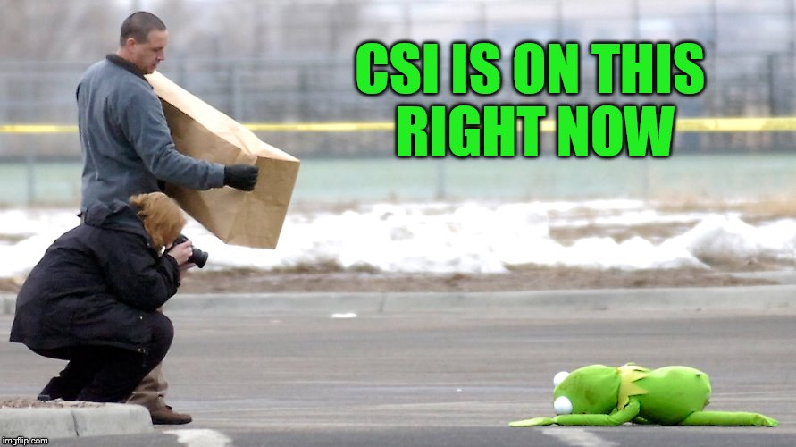 CSI IS ON THIS RIGHT NOW | made w/ Imgflip meme maker