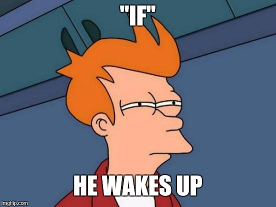 "Futurama Fry Meme | ""IF"" HE WAKES UP 