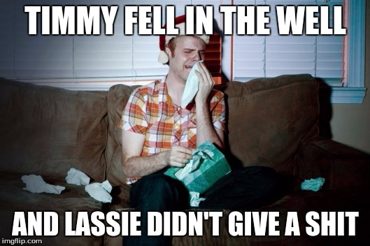 TIMMY FELL IN THE WELL AND LASSIE DIDN'T GIVE A SHIT | made w/ Imgflip meme maker