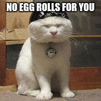 NO EGG ROLLS FOR YOU | made w/ Imgflip meme maker