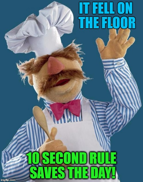 IT FELL ON THE FLOOR 10 SECOND RULE SAVES THE DAY! | made w/ Imgflip meme maker