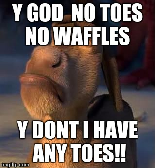 1fl6di sad donkey imgflip,Donkey Waffles Meme