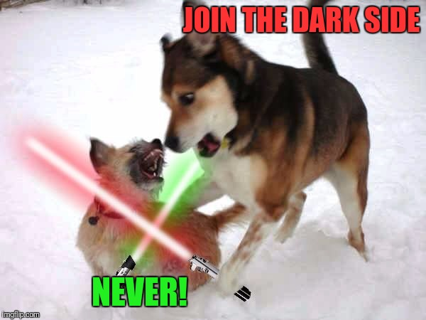 JOIN THE DARK SIDE NEVER! | made w/ Imgflip meme maker