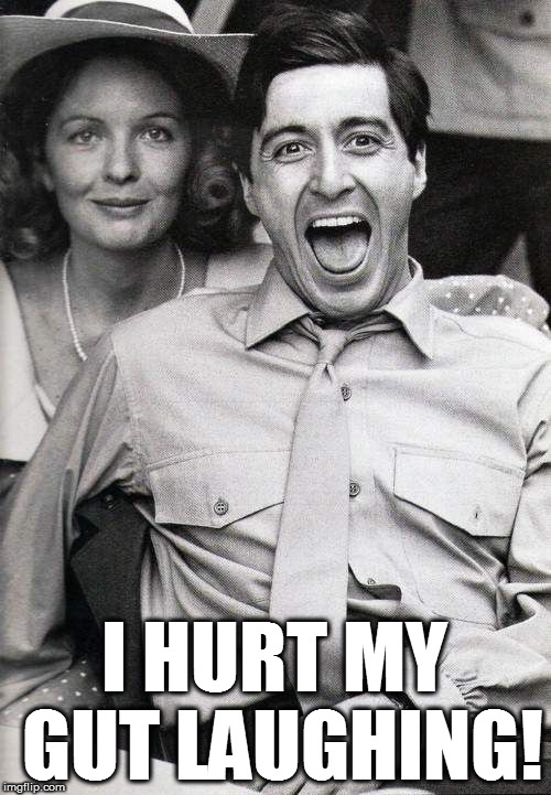 laughing | I HURT MY GUT LAUGHING! | image tagged in laughing | made w/ Imgflip meme maker