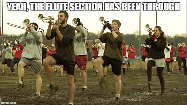 YEAH, THE FLUTE SECTION HAS BEEN THROUGH | made w/ Imgflip meme maker