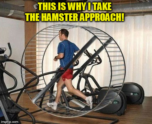THIS IS WHY I TAKE THE HAMSTER APPROACH! | made w/ Imgflip meme maker