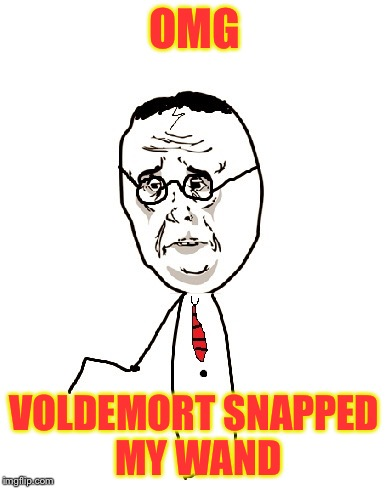 Harry Potter Ok | OMG VOLDEMORT SNAPPED MY WAND | image tagged in memes,harry potter ok | made w/ Imgflip meme maker