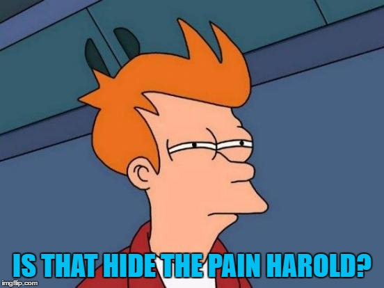 Futurama Fry Meme | IS THAT HIDE THE PAIN HAROLD? | image tagged in memes,futurama fry | made w/ Imgflip meme maker