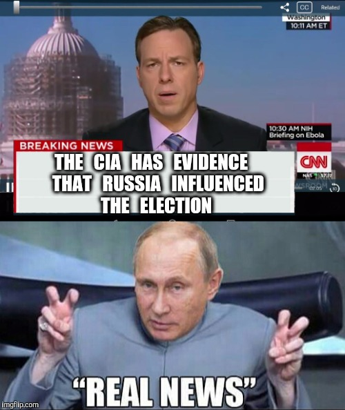 Watch as Corporate Media destroys their own Business Model. | THE   CIA   HAS   EVIDENCE    THAT   RUSSIA   INFLUENCED    THE   ELECTION | image tagged in cnn breaking news template,cnn,russia,putin | made w/ Imgflip meme maker
