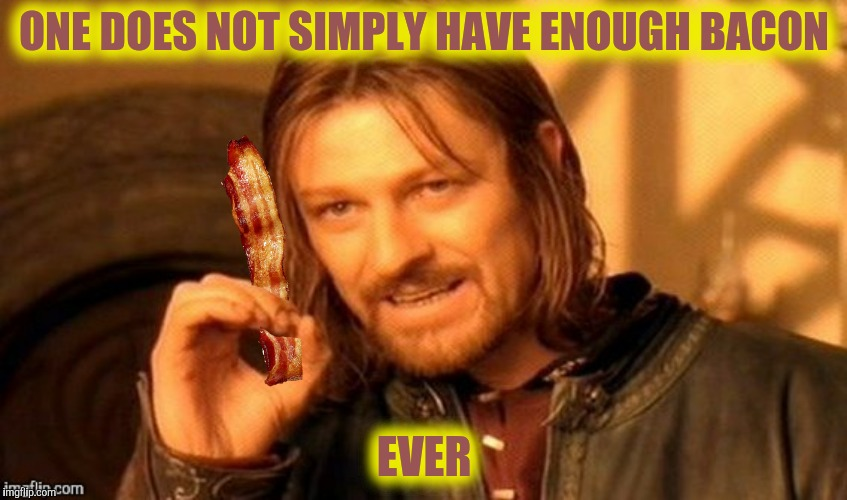 ONE DOES NOT SIMPLY HAVE ENOUGH BACON EVER | made w/ Imgflip meme maker