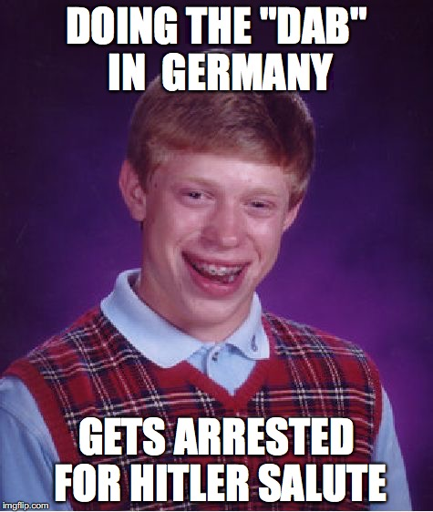 "Dabbing in Germany | DOING THE ""DAB"" IN  GERMANY GETS ARRESTED FOR HITLER SALUTE 
