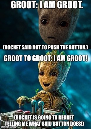 image tagged in evil groot | made w/ Imgflip meme maker