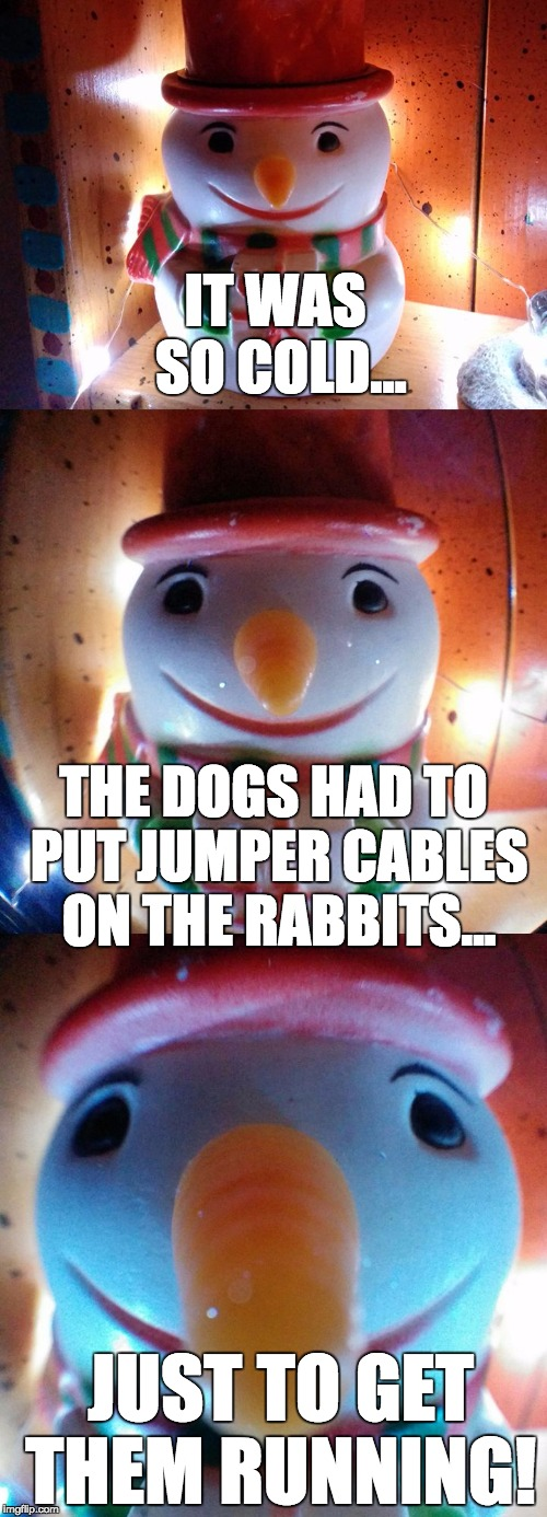 Jumper Cables Meme : It was so cold rabbits imgflip