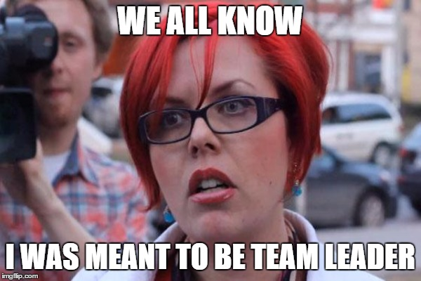 WE ALL KNOW I WAS MEANT TO BE TEAM LEADER | made w/ Imgflip meme maker